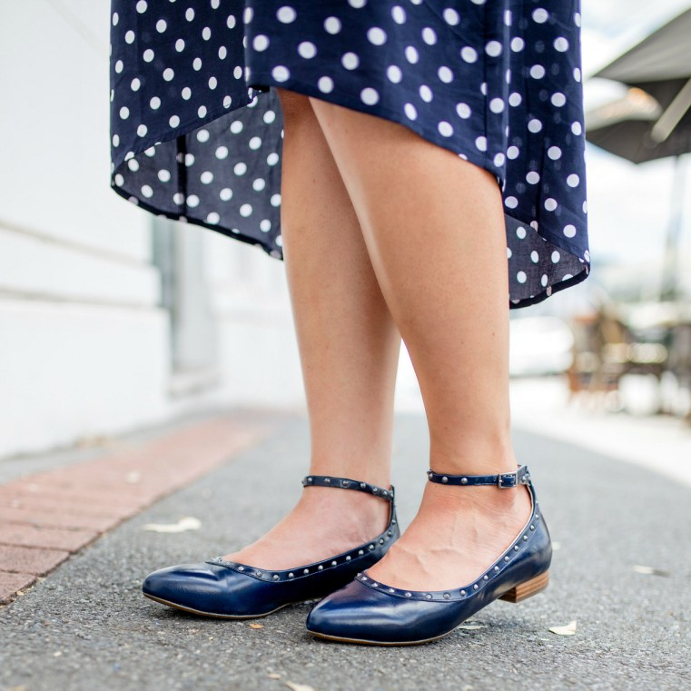 BEC flats in navy | FRANKiE4 Footwear back to work 2019