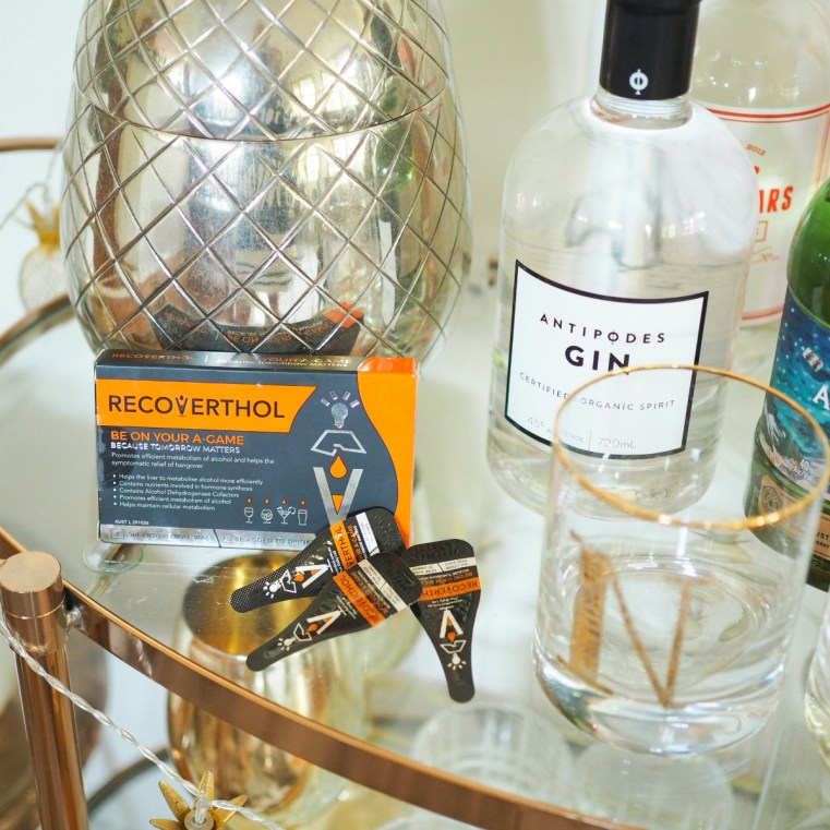 Recoverthol helps to manage hangover symptoms   bar cart   gin