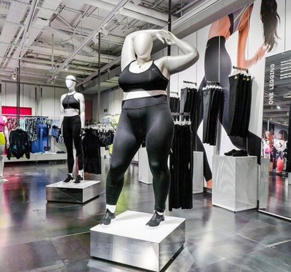 Nike plus-size mannequin | health story