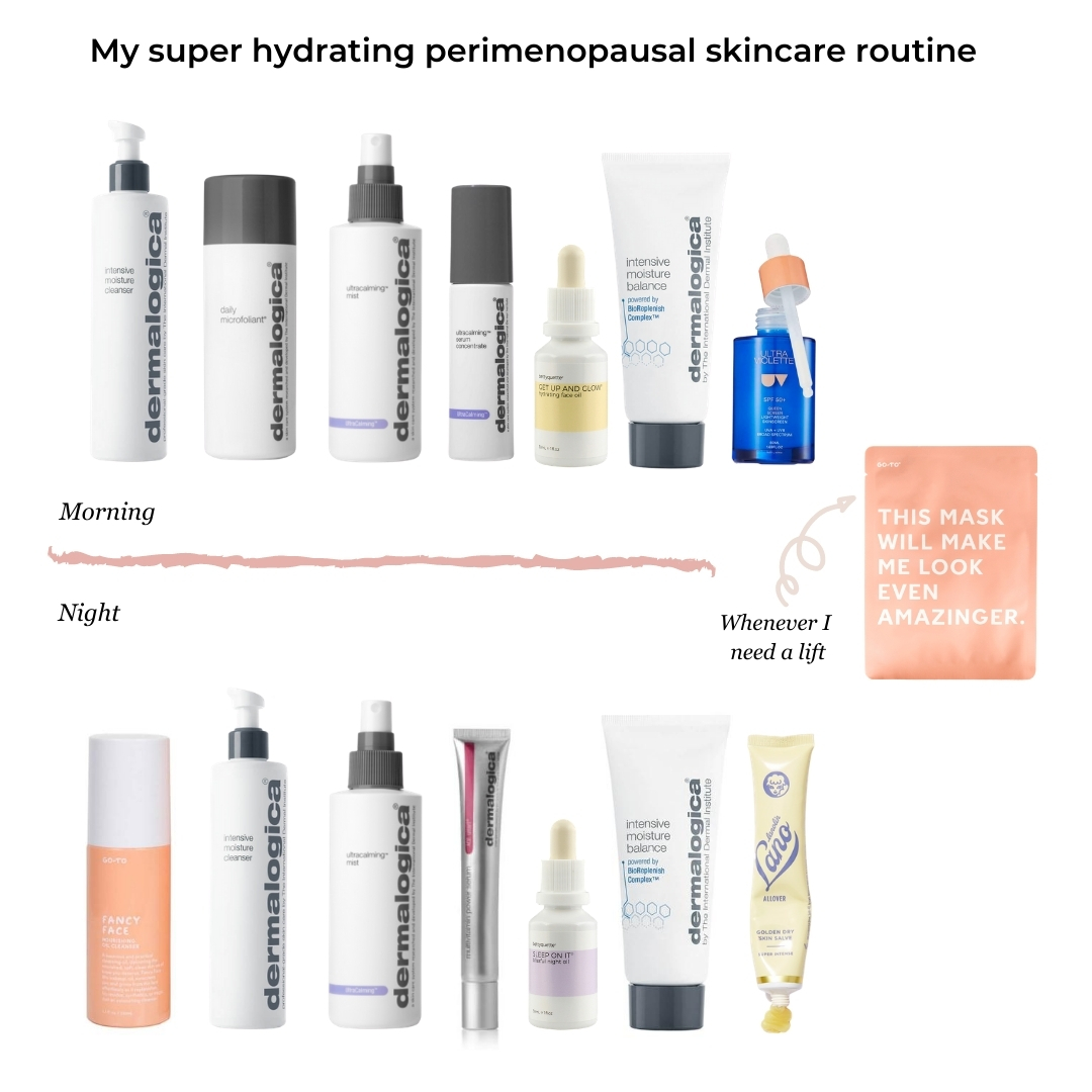 My super hydrating perimenopausal skincare routine
