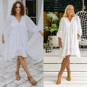The Model and Me: Ada and Lou Gracie dress in white