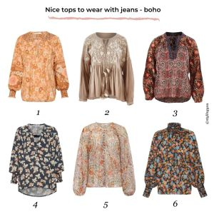 24 nice tops to wear with your perfect pair of jeans | boho