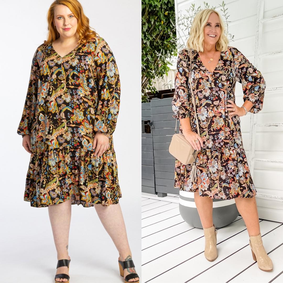 The Model and Me - Harlow I Can't Wait ruffle hem dress