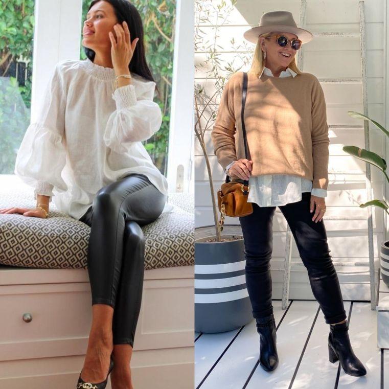 The Model and Me: Zjoosh Olivia black leather pants