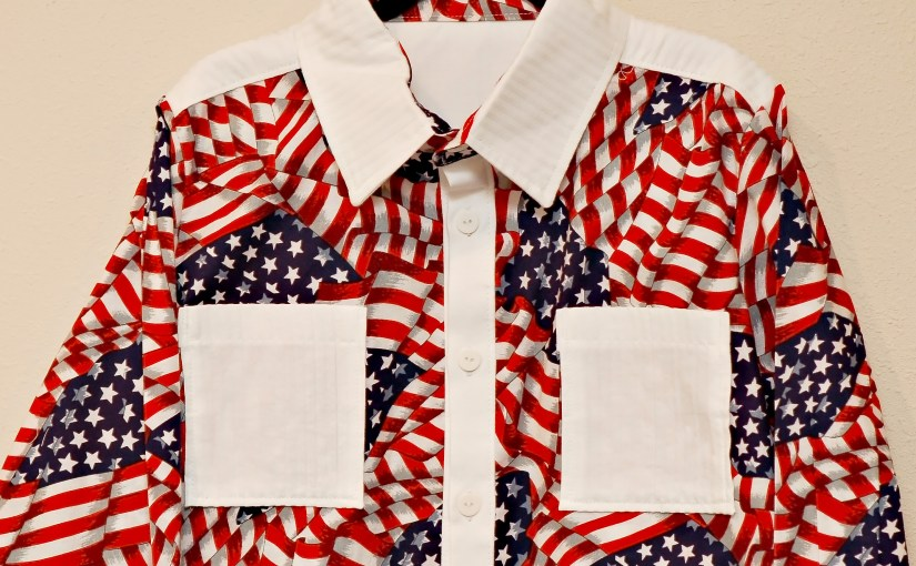 A new rodeo shirt…a very patriotic rodeo shirt