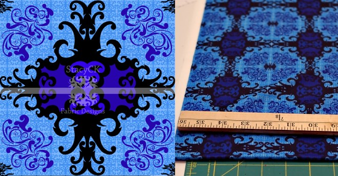 fabric printed blue