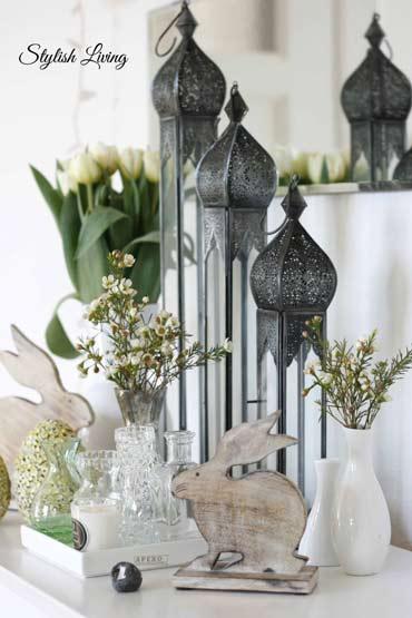 Schlichte und dekorative Osterdekoration