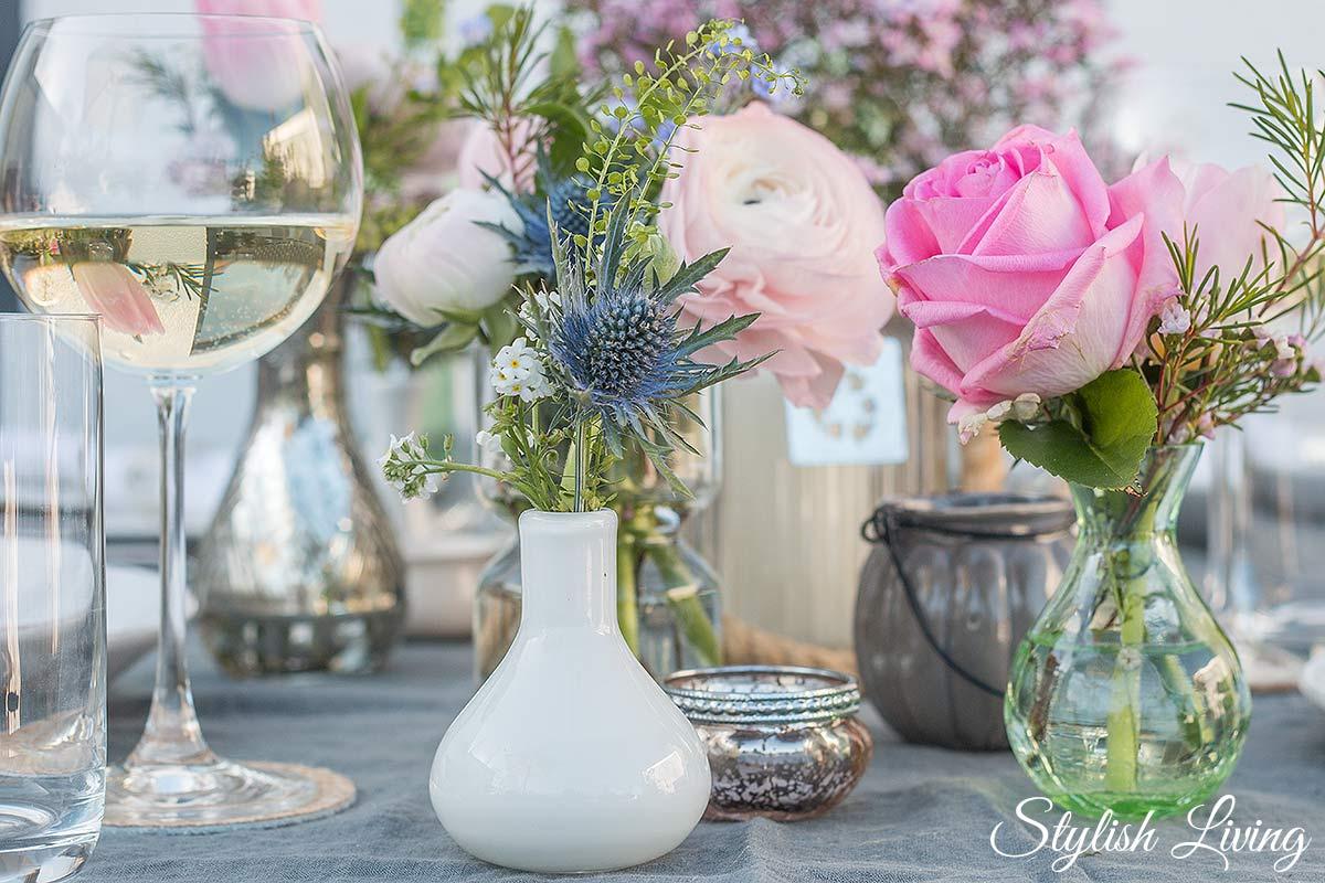 Frhlingshafte Tischdeko und dazu Blanchet Sponsored