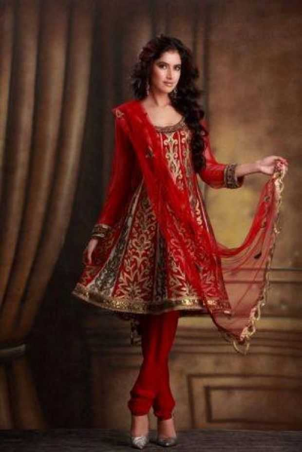 Indian Stylish Bridal Salwar Kamez Designs  Wedding