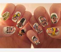 Comic Strip Nail Art Designs - Cartoon Nail Art , Comic ...