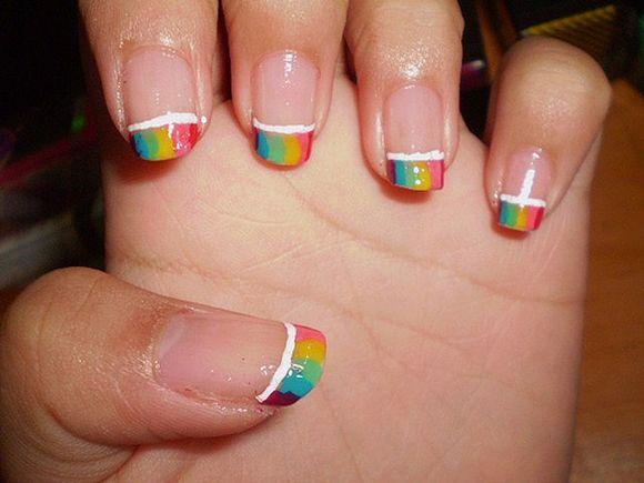 Rainbow Nail Art Gallery: Stunning Rainbow Nail Art Designs