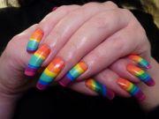 rainbow nail art stunning