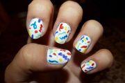 happy birthday themed nail art