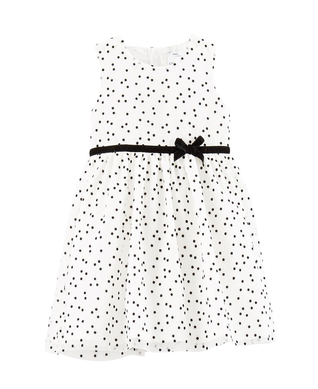 Carter's Baby Girls' Flocked Baby Girl Dress w/ Diaper