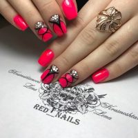 Amazing Black And Red Nail Design Picture Elaboration ...