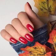 gorgeous winter red nail art design