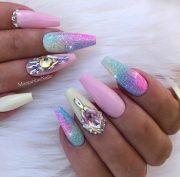 unicorn nail art design