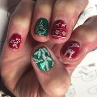 Red And Green Christmas Nails - Wikie Cloud Design Ideas