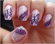 stylish and elegant butterfly nail