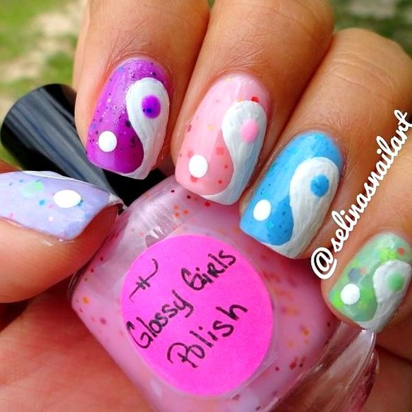 You Can Get A Perfect Yin And Yang Nail Art Now If Want To Make It Stylish One Then Try More Colors Designs Add With This Symbol