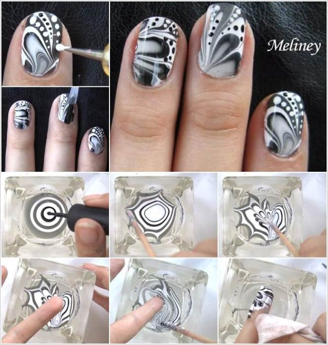 How To Use Nail Art Kit In Hindi Ideas Water Marble