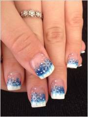 fabulous christmas french tip manicure