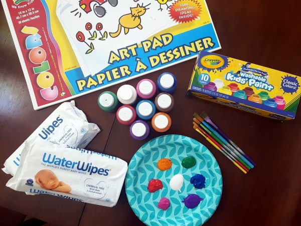 Finger Painting Fun With WaterWipes! #WaterWipesMom #ad #IC @WaterWipesUSA