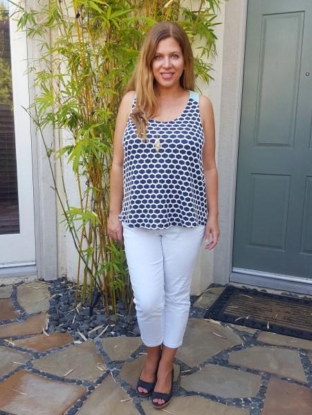 Stitch Fix Review April 2017 - Pixley Eileen Honeycomb Texture Knit Tank #stitchfix #fashion #style