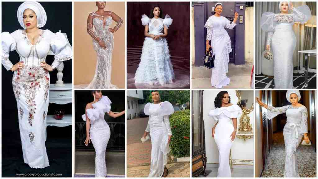 Trending and Eye Popping White Coloured Fabric Styles