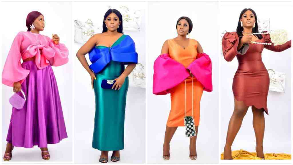 Plain colour combination styles for Owambe