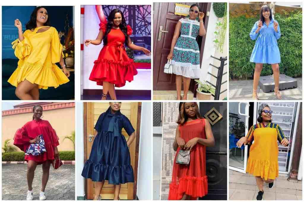 Trendy short gown bubble dress