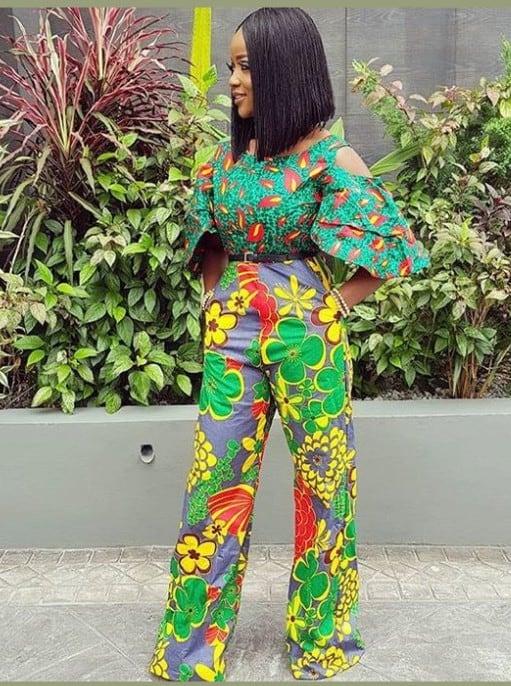 Amazing ways to ankara mix-match trousers