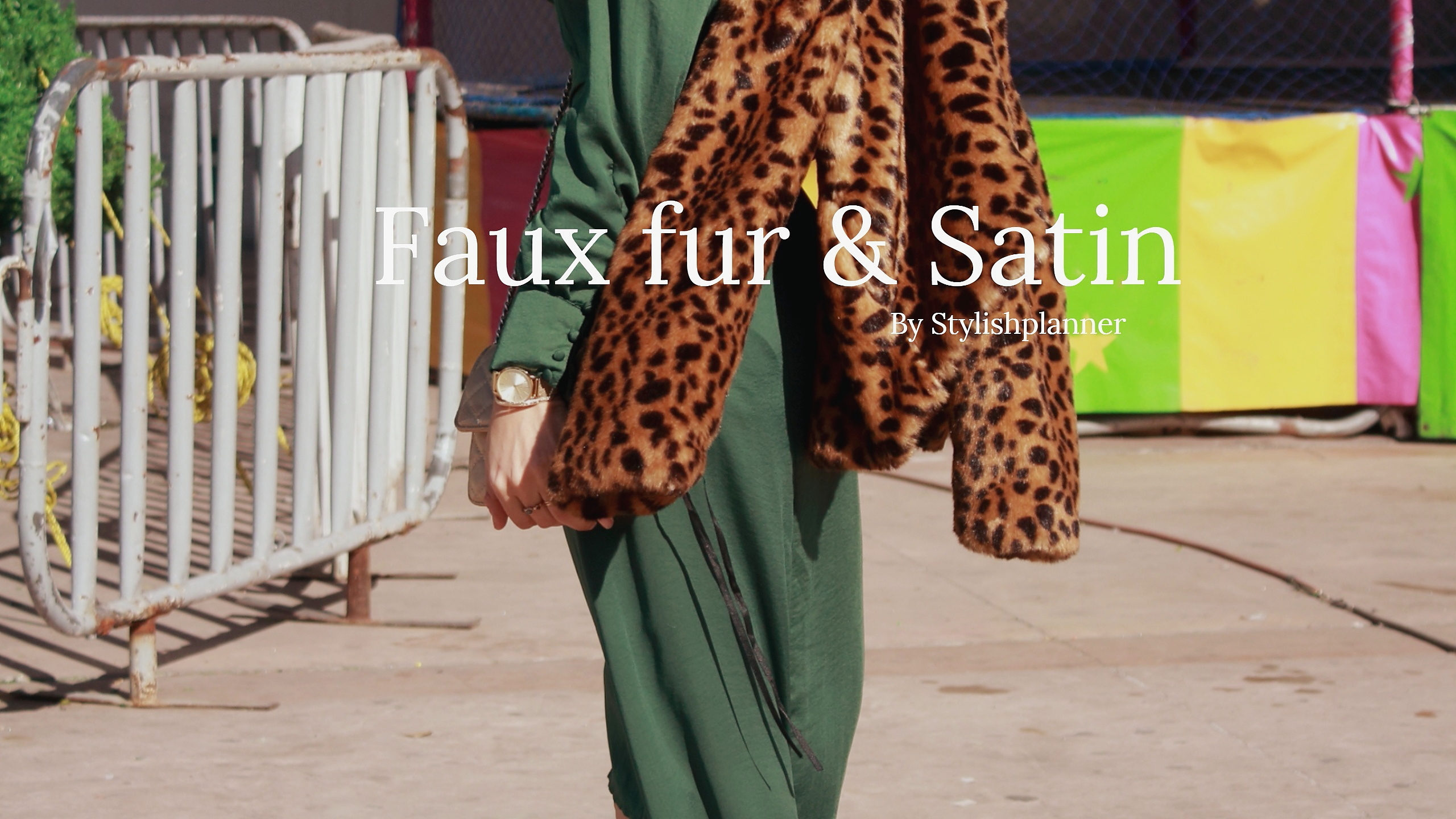Fauxfur &satin my love