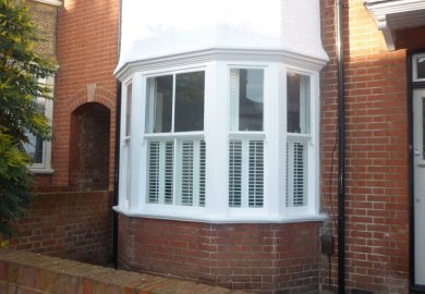 Bay Window Exterior Shutters