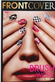 front cover brush work nail art