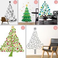 Fabric Christmas Tree Wall Stickers