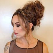 easy cute and messy bun hairstyles