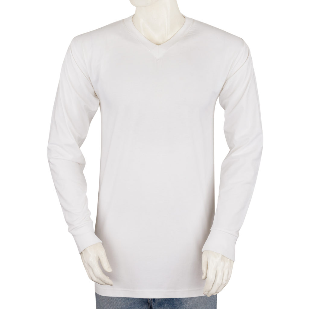 961ff85c2b73 Big & Tall V Neck Long Sleeve Tee for Men - Heavy Weight - Styllion ...