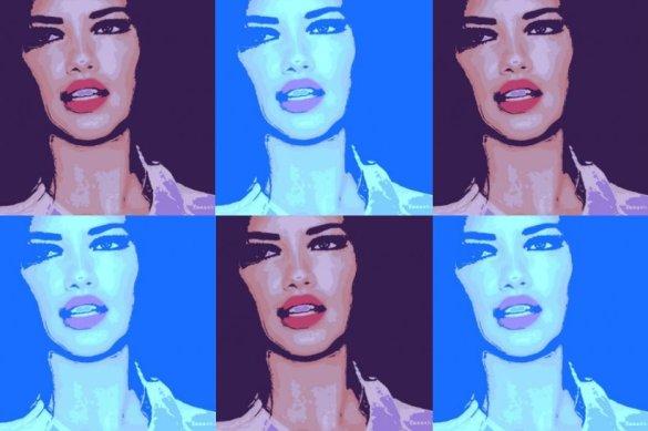 Adriana Lima Pop Art
