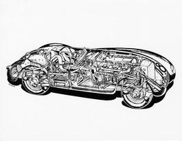 Jaguar C-type disegno CAD