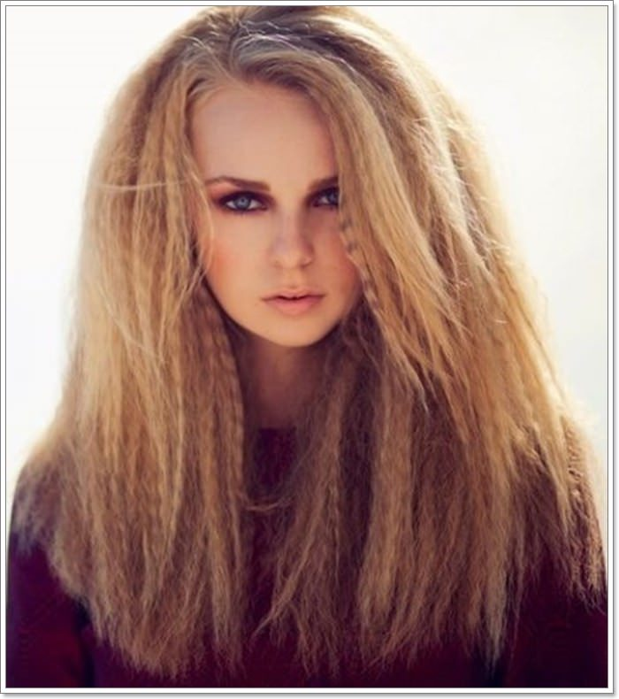 102 outstanding crimped hair
