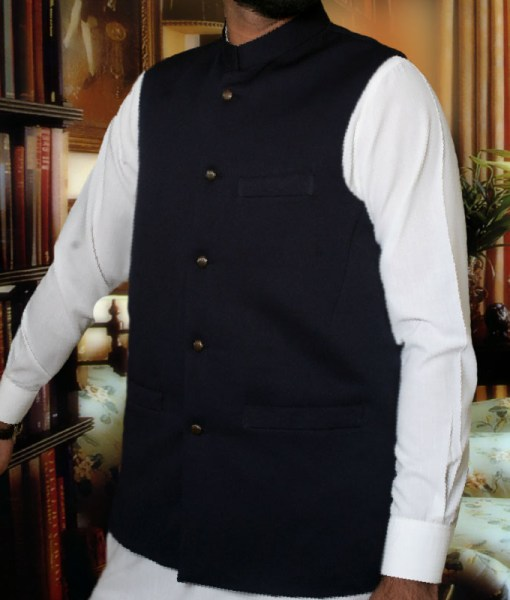 Waist Coat Plain Black