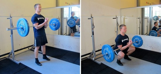 Övningen Zercher squat utförande