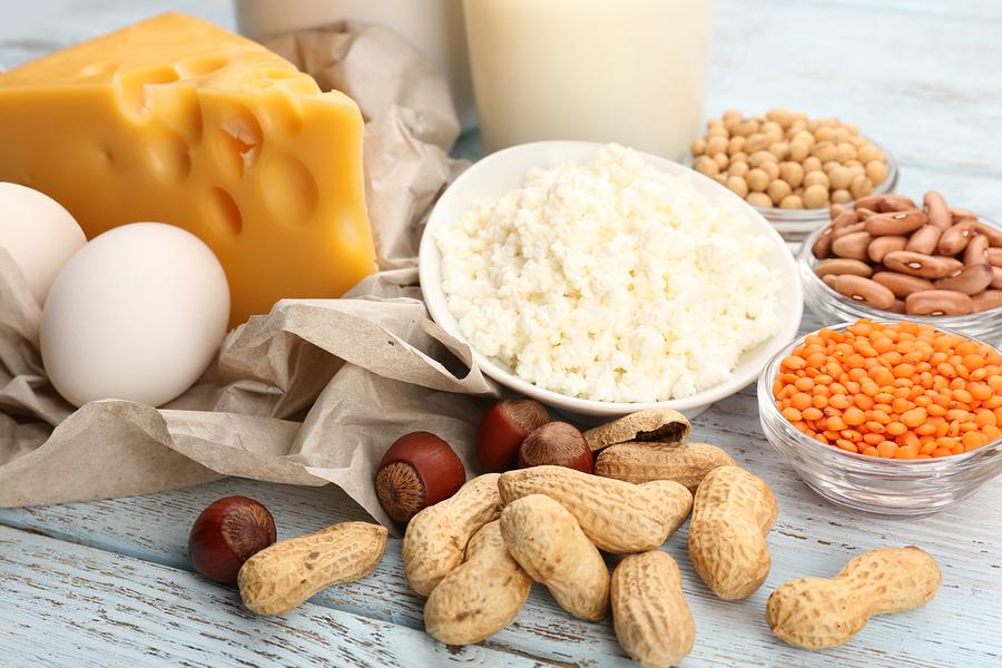 lågkalori hög protein mat