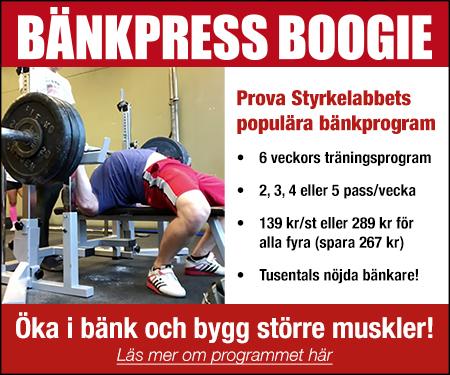 Bänkpress Boogie - Slå nytt PB i bänkpress!