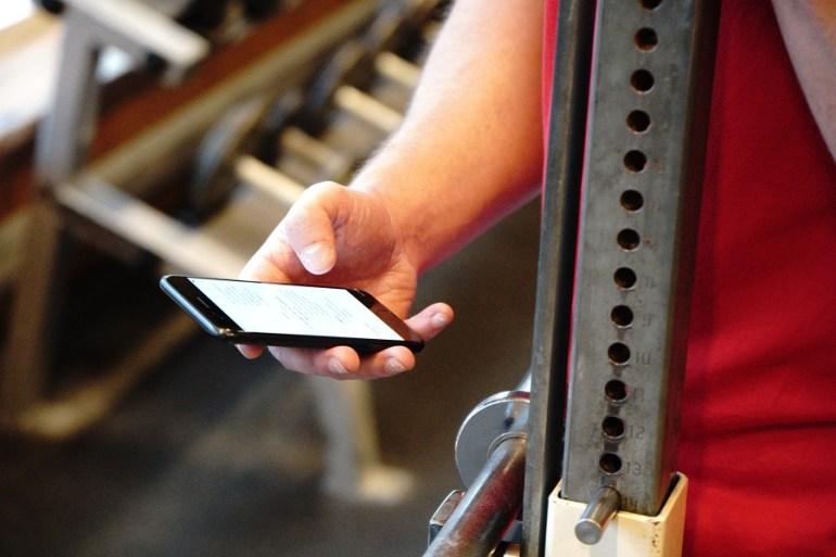 Mall för träningspass i mobilen