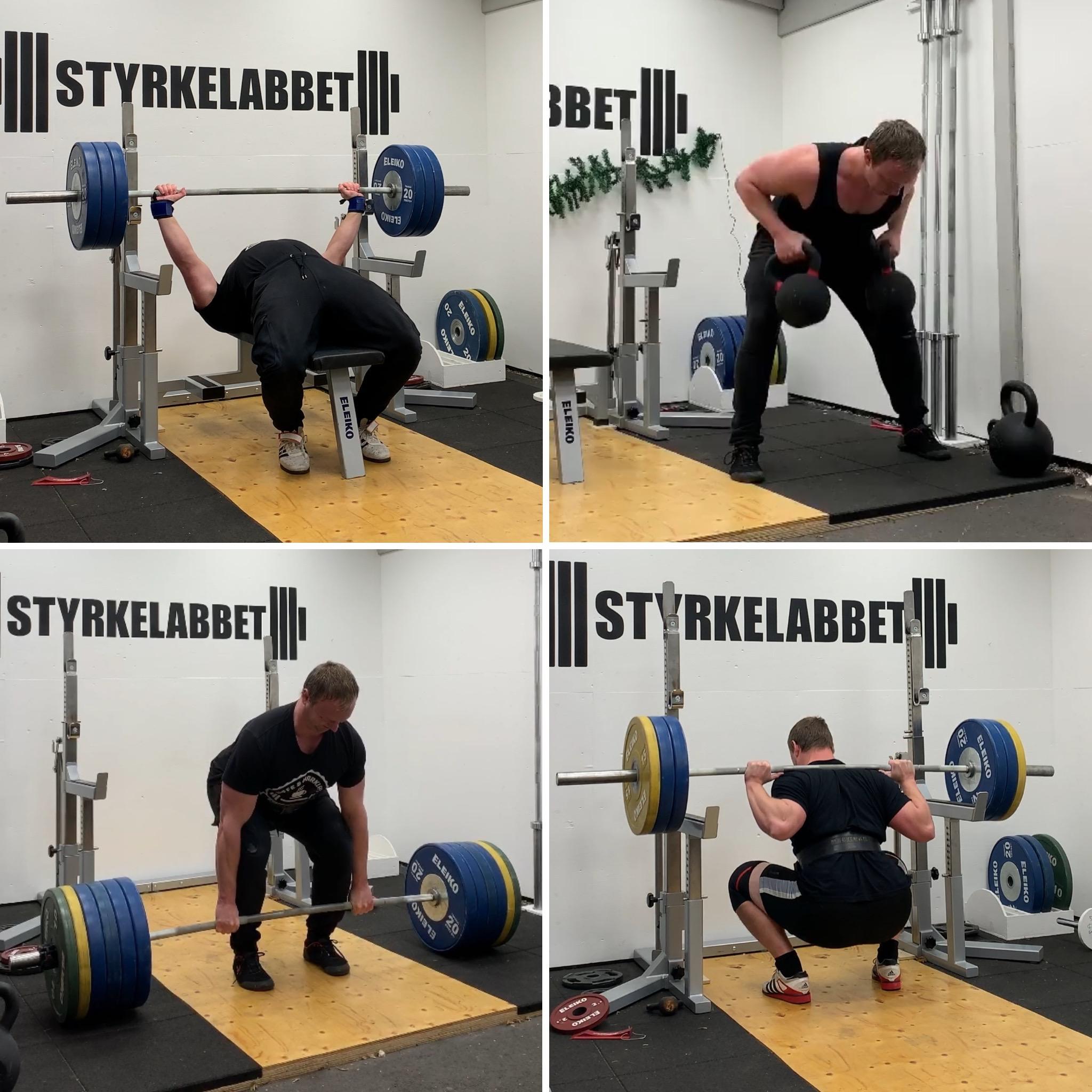 Fyra grundrörelser för styrketräning