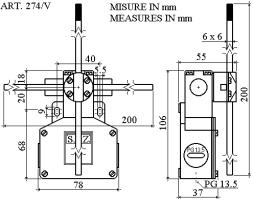 Limit switch cross wise and two speed