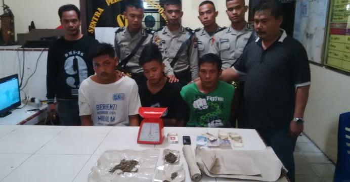 Tiga Orang Pemuja Narkoba Diringkus Polsek Bunut