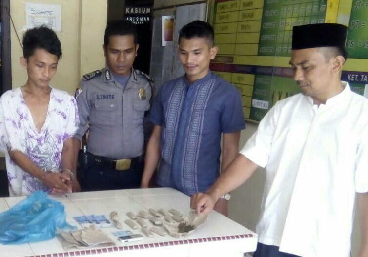 Polisi Tangkap Warga Pangkalan Lesung Simpan Ganja di Kandang Ayam